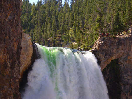 Lower Yellowstone Falls, one of most beautiful waterfalls of North America Archivio Fotografico