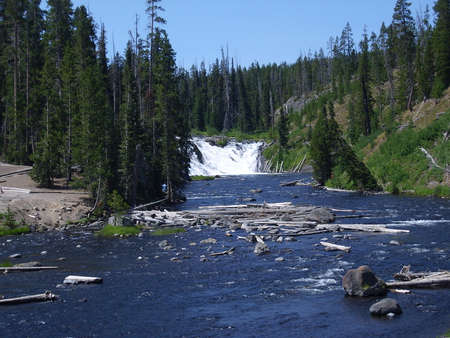Lewis Falls in South Yellowstone National Park, USA