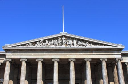 Facade of British Museum in London, UK