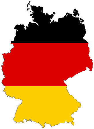 Map of Germany with official flag colors Zdjęcie Seryjne
