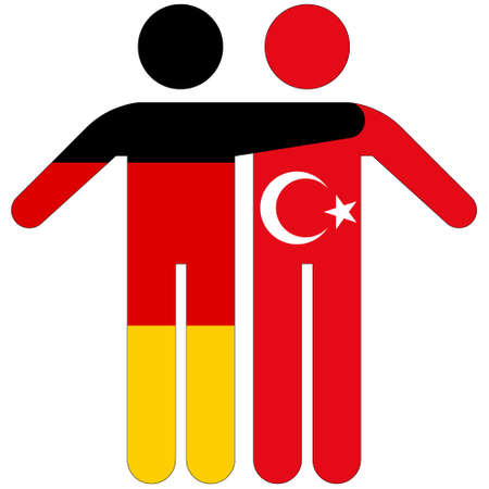 Germany - Turkey / friendship concept on white background