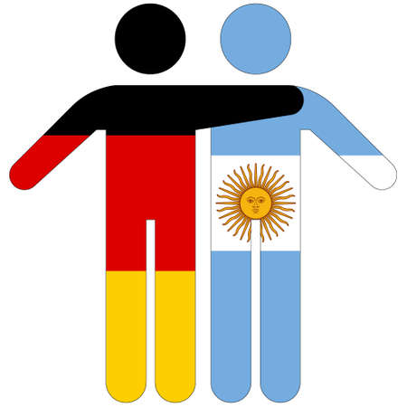 Germany - Argentina / friendship concept on white background