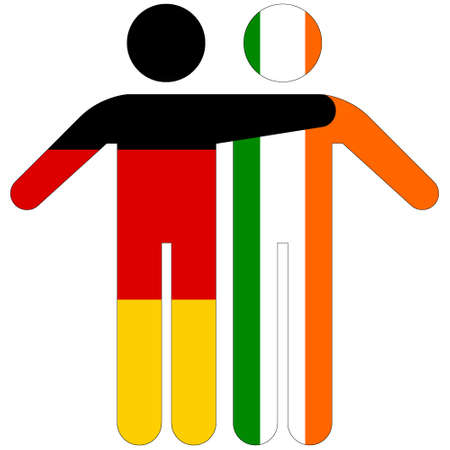 Germany - Ireland / friendship concept on white background