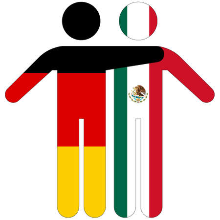 Germany - Mexico / friendship concept on white background