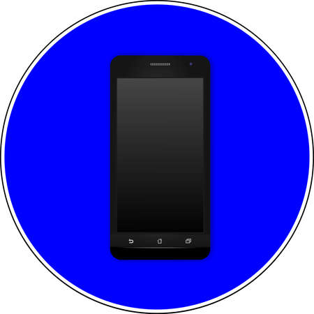 Smartphones allowed blue sign 스톡 콘텐츠