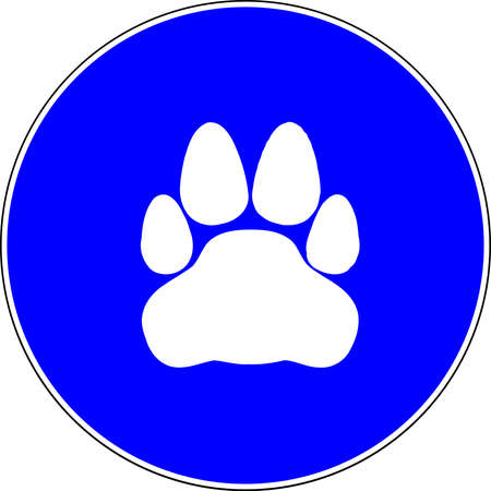 Pets allowed blue sign