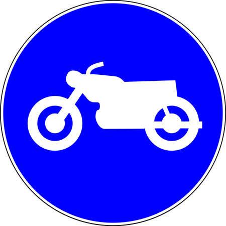 Motorcycle allowed blue road sign 스톡 콘텐츠