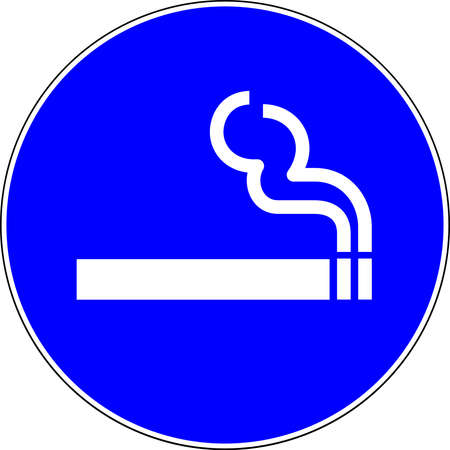 Smoking allowed blue sign