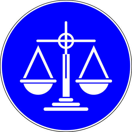 Justice allowed blue sign