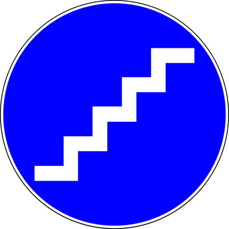 Stairs available blue sign 스톡 콘텐츠