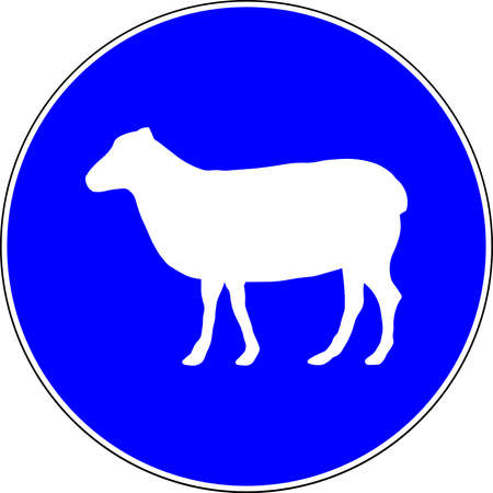 Sheeps allowed blue sign