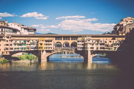 ponte: View on Ponte Vecchio Firenze ITALY