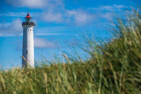 Hirtshals lighthouse on the Danish coast of Jutland