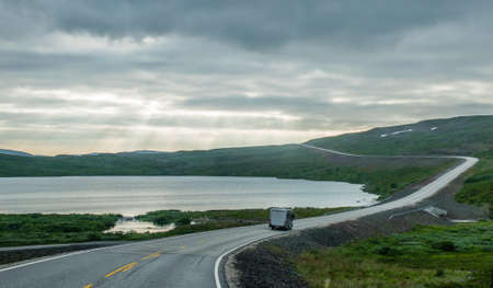 the nordkapp road Stock Photo