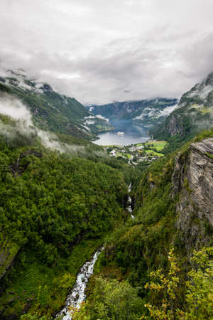 view from the Geirangerfjord
