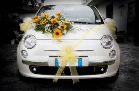 amore: Wedding car  that s amore  Stock Photo