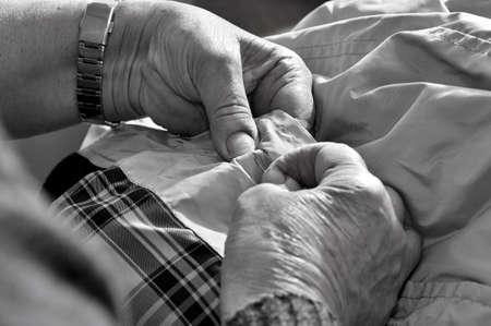 Woman sewing photo