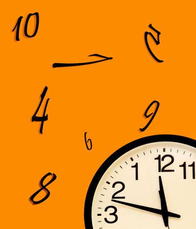 Wall clock and disorder photo
