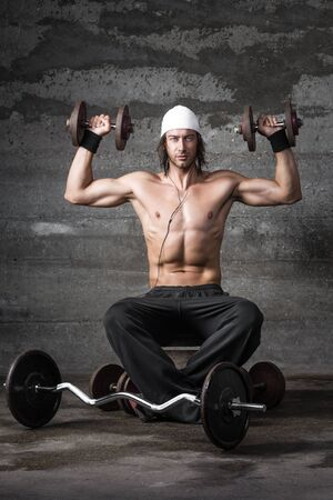 handsome bodybuilder working out Stock Photo - 22220062