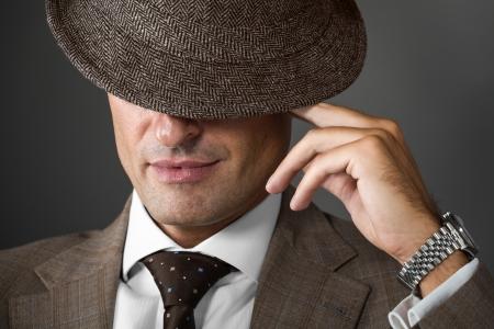 cropped portrait of classic elegant man