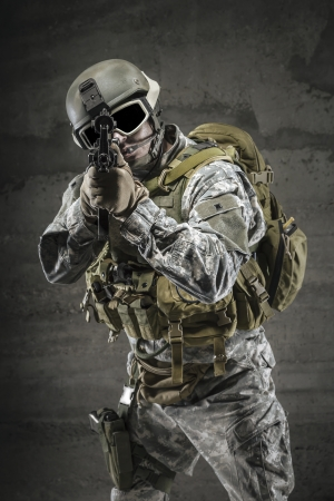sighting: Soldier pointing gun at you