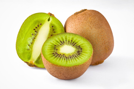 kiwi fruta: aislado grupo de kiwi