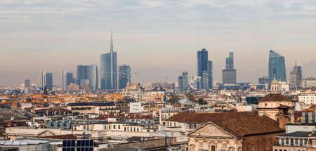 Milano panorama Stock Photo