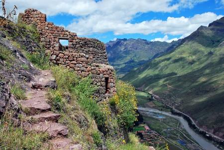 Scenery in Pisac near Cusco in Peru