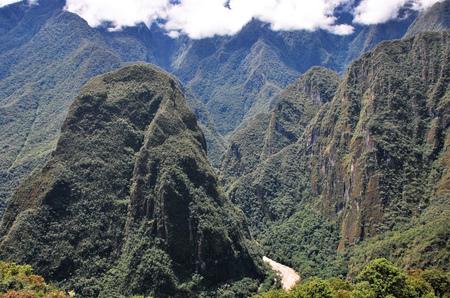 Landscape in Machu Picchu in the Cusco region, Peru
