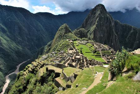 Machu Picchu in the Cuzco region Peru Stock Photo