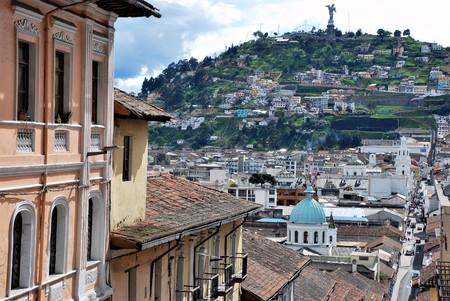 View of Quito in Ecuador