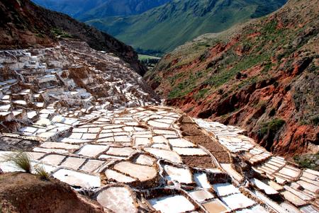 Salt Ponds in Maras in the Cusco region, Peru