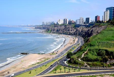 Coastline in Lima, Peru