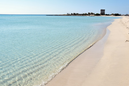 Beach near Porto Cesareo in Salento, Italy