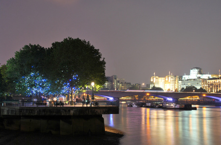 View of the South Bank in London, UK Stock Photo
