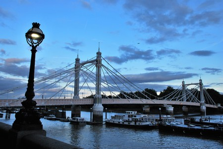 Albert Bridge in London, UK