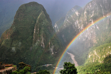 Landscape in Machu Picchu in Peru