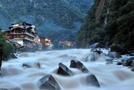 Landscape in Machu Picchu, Peru Stock Photo