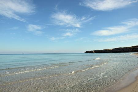 Beach in Torre dellOrso in Salento, Italy