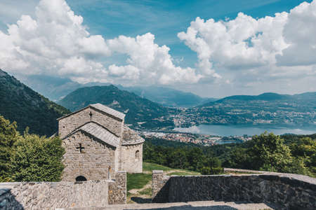 Abbey of San Pietro al Monte in the town of Civate, province of Lecco, Italy.