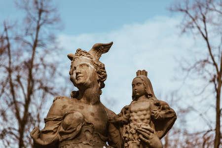 Statue in Warsaw - Poland Stock Photo