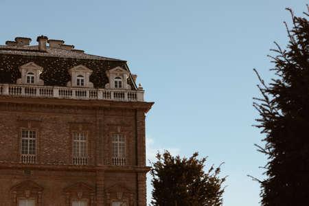 Venaria Turin - Italy Dec 2011 view of the Royal Palace of Venaria. Redactioneel