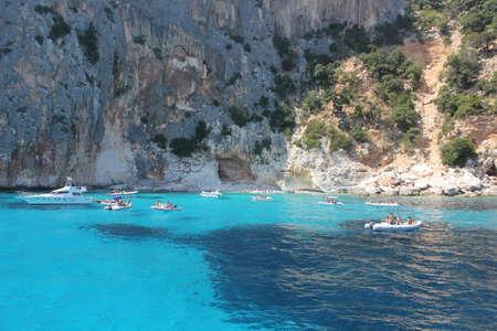 OROSEI AUG 2011 - ITA Turquoise sea in the beautiful bay in the Gulf of Orosei, Sardinia - Italy. 報道画像