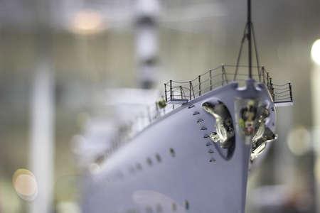 second war ship - model miniature reproduction.