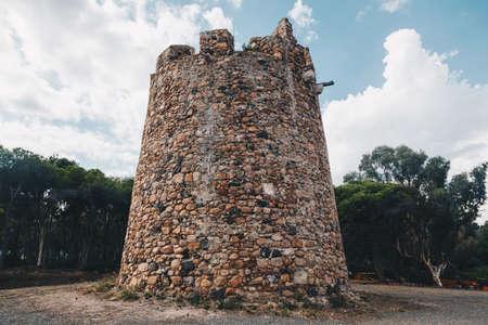 ancient spanish tower fortification in Sardinia (santa margherita) 1