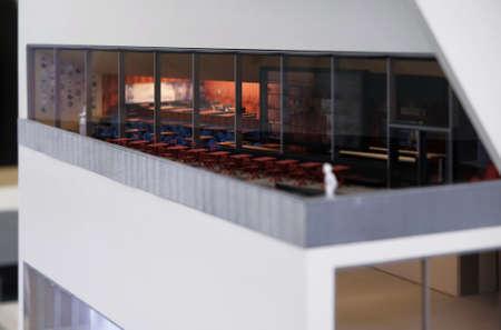 Milan, ITALY FEB 2019 - scale model reproduction of the Fondzione Prada museum Editorial