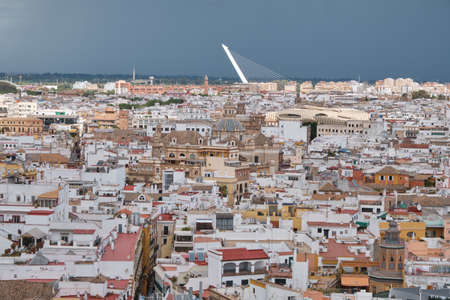 view of Seville in a cloudy day - Spain capital of Andalusia Фото со стока