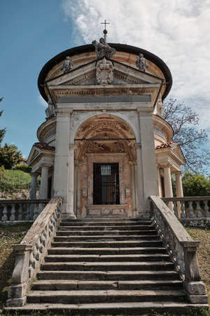chapel along the path of the historic pilgrimage route from Sacred Mount or Sacro Monte of Varese, Italy - Lombardy