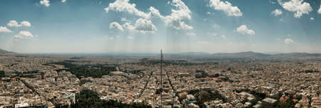 big panorama of athens in a sunny day in the capital of Greece 版權商用圖片