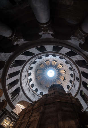DEC 2019 - ceiling in the Church of the Holy Sepulcher - Stone of Unction in Jerusalem, Israel Reklamní fotografie